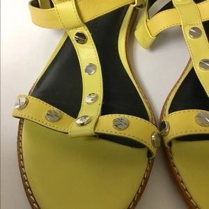 Rebecca Minkoff Shoes - Rebecca Minkoff yellow leather sandals size 7.5